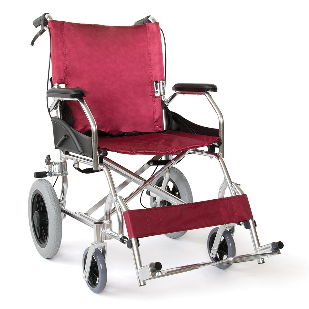 Vita  Αναπηρικό Αμαξίδιο Αλουμινίου Μεταφοράς - Κόκκινο