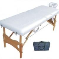 Κρεβάτι φυσιοθεραπείας ξύλινο τύπου βαλίτσα