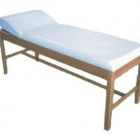 Εξεταστικό κρεβάτι ξύλινο με πομπέ προσκέφαλο